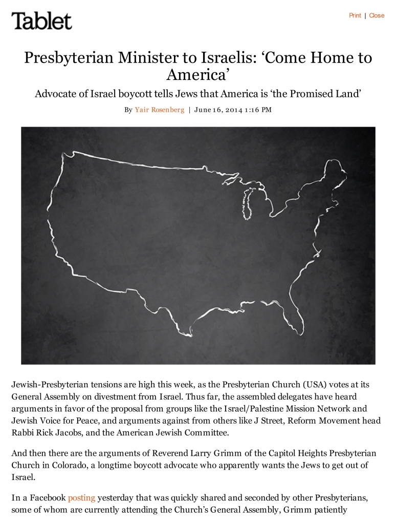 Presbyterian Minister to Israelis_ 'Come Home to America'-print-1