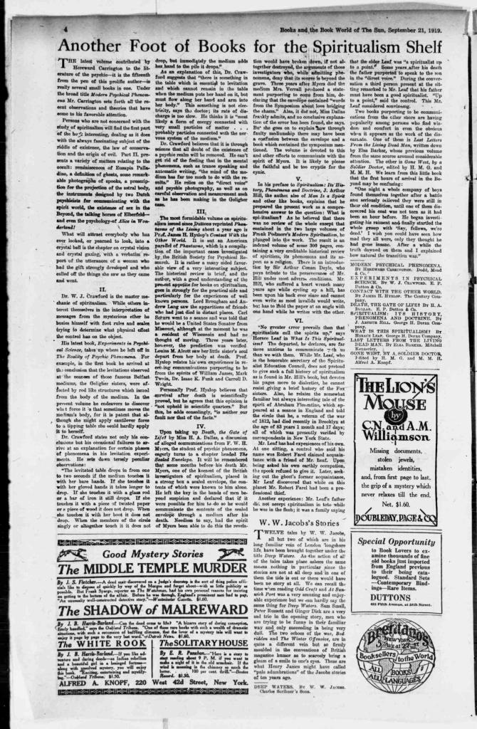 New York Sun 9.21.1919