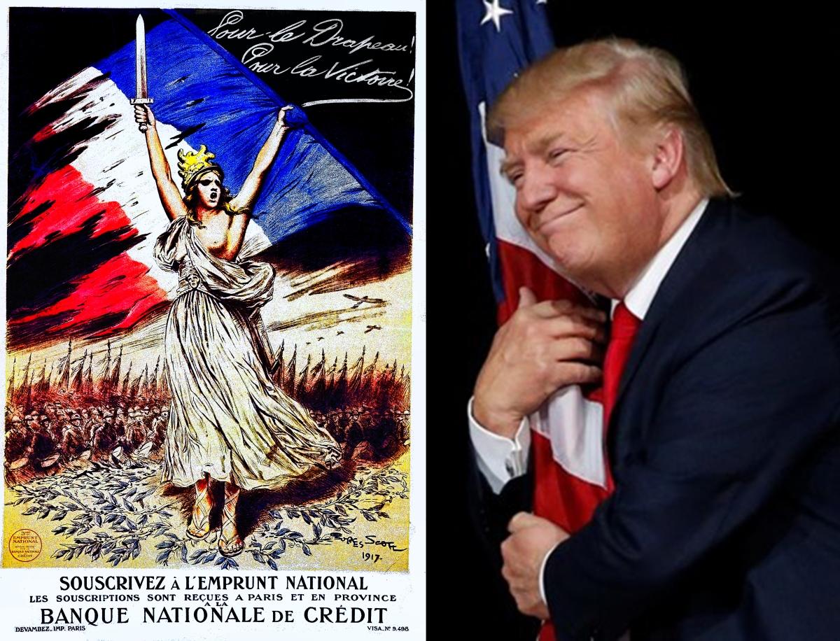 Pour le drapeau plus Trump